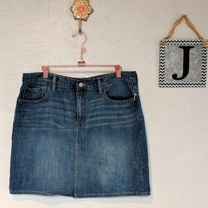 Gap denim mini skirt, faded denim skirt